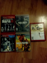 5 Ps3 Games For $20 Guelph, N1H 7L7