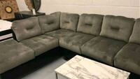 On sale modern sectional in grey fabric  Toronto, M9W 1P6