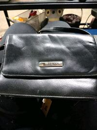 black leather 2-way bag 360 mi