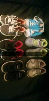 toddler's  pairs of shoes size 8c
