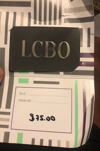 LCBO GIFT CARD ( Final Price is $75)  Toronto, M6B 3Y4