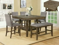 Manning Rustic Brown Counter Height Dining Set | 2 Houston, 77036