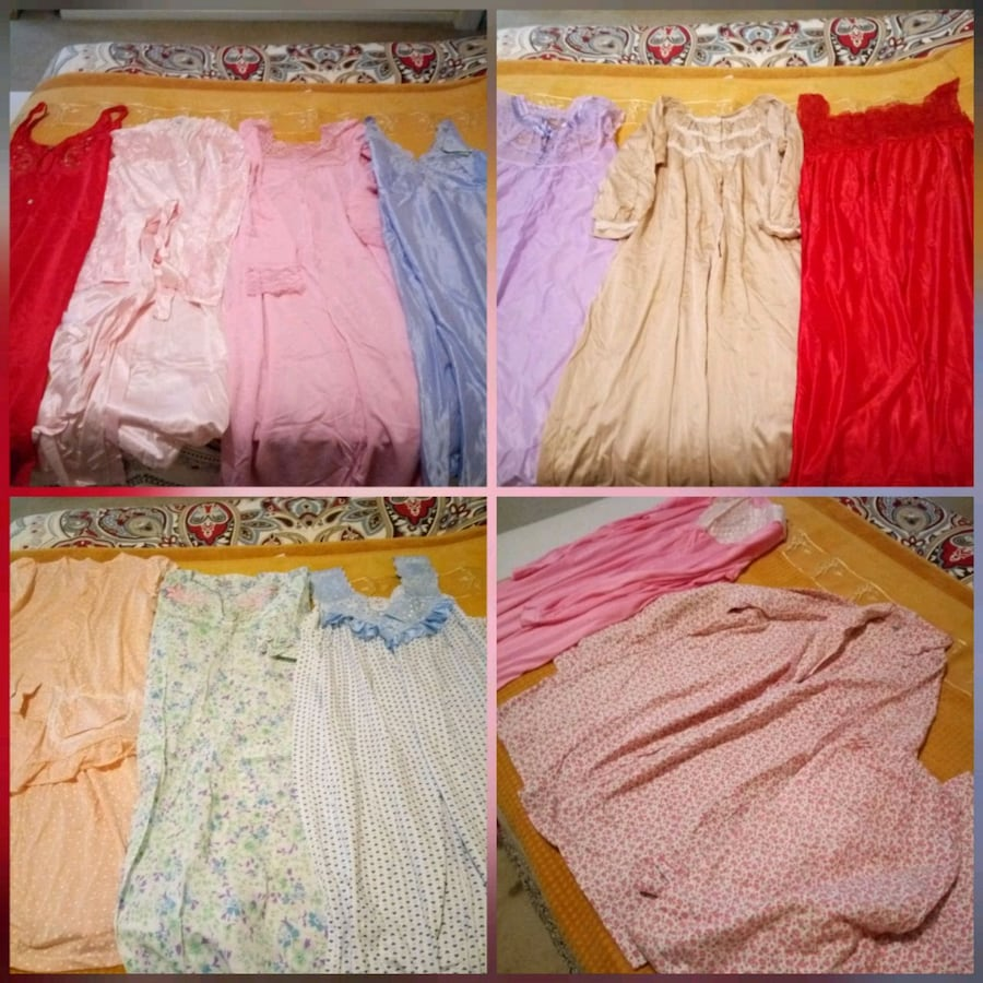 Night gowns silk and cotton
