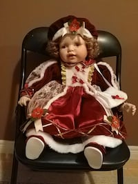 Christmas porcelain doll Vaughan