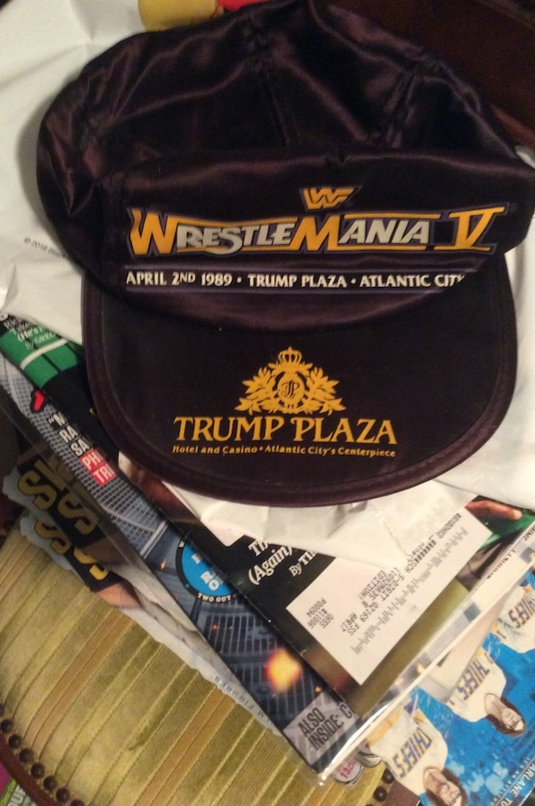 808a1fa1d Used Wrestile mania v brown fitted cap for sale in Quincy - letgo