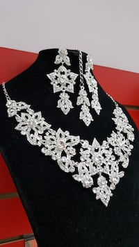 Silver Crystal Bridal Set Mississauga