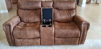 Power Reclining Sofa and Love Seat With Console Prescott Valley
