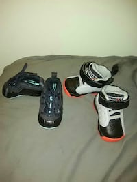toddler's two pairs of white and black Air Jordan shoes Rocky Mount, 27804