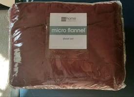 JCPenney Queen Micro Flannel Sheet Set - Brand new!