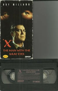 vhs X The man With The X-Ray Eyes   Orion Home Video Ray Milland  (ref # bx2)