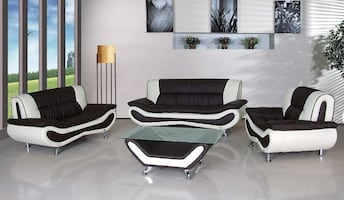 BRAND new choco/beige living room set