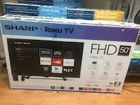Sharp 50 Inch - 1080p LED Roku Smart TV - 10/10 - Can Deliver - $385 FIRM Vancouver