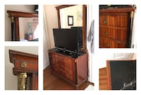 Antique Wood Dresser, Made in Spain. Woodbine, 21797