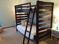 Wood bunk bed XL twin over twin Cutlerville