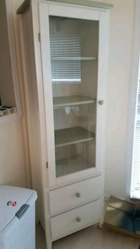 Solid wood display cabinet with drawer Surrey, V3R 4A8