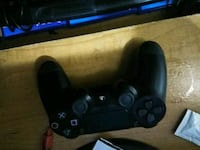black Sony PS4 controller