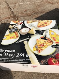 In Box/Never Been Used Pizza Party Dish Set