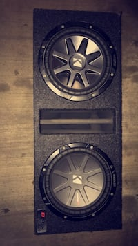 """2 10"""" Kicker CompR Subwoofers in a MDF Dual Ported Box Houston, 77002"""
