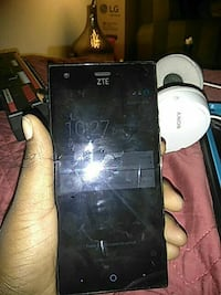 black and white ZTE Android smartphone