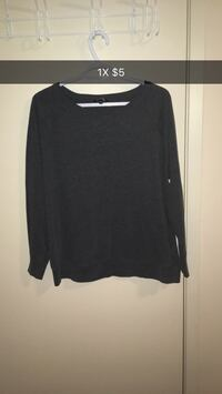 black scoop-neck sweatshirt London