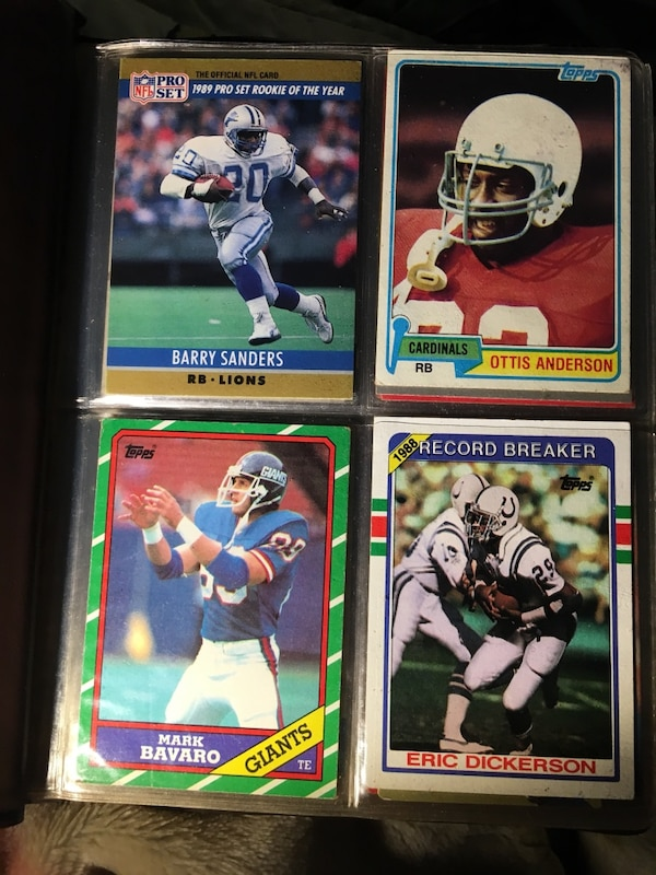 1980s Collectable Nfl Tcards Barry Sanders 1