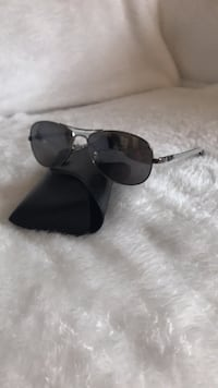 Silver framed black lens sunglasses Calgary