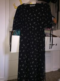 black and white floral long-sleeved dress Lewiston, 83501