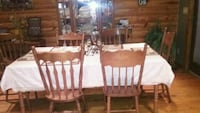 Dinette set with hutch, table, and 6 chairs.  Asheboro, 27205