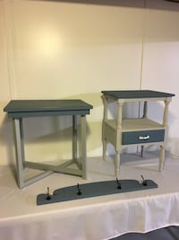 End table , night table and coat rack