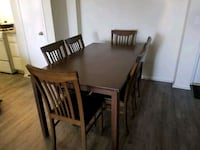 Table wood brown with 6 chairs ..  Los Angeles, 90028