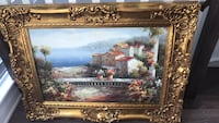 brown wooden framed painting of house Vaughan, L4H 3P6