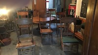 brown wooden chairs with round table dining set Lexington, 29072