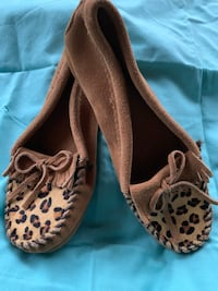 Brown-and-black leopard print slip on shoes Lebanon, 06249