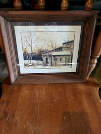 Winter scape in wood frame Stonewall, R0C 2Z0