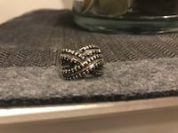 Genuine diamond ring set in 925 sterling silver ~ retails over $900 Surrey, V4N 6A2