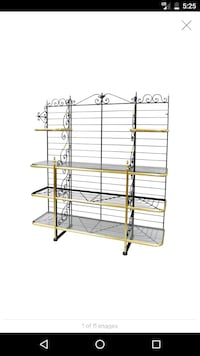 MASSIVE ANTIQUES AND NICKEL FRENCH BAKERS RACK MET