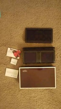 Nib authentic coach wallet and checkbook holder