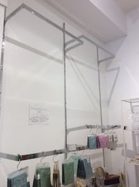 Standard chrome retail wall clothing rack system Cambridge, N1R
