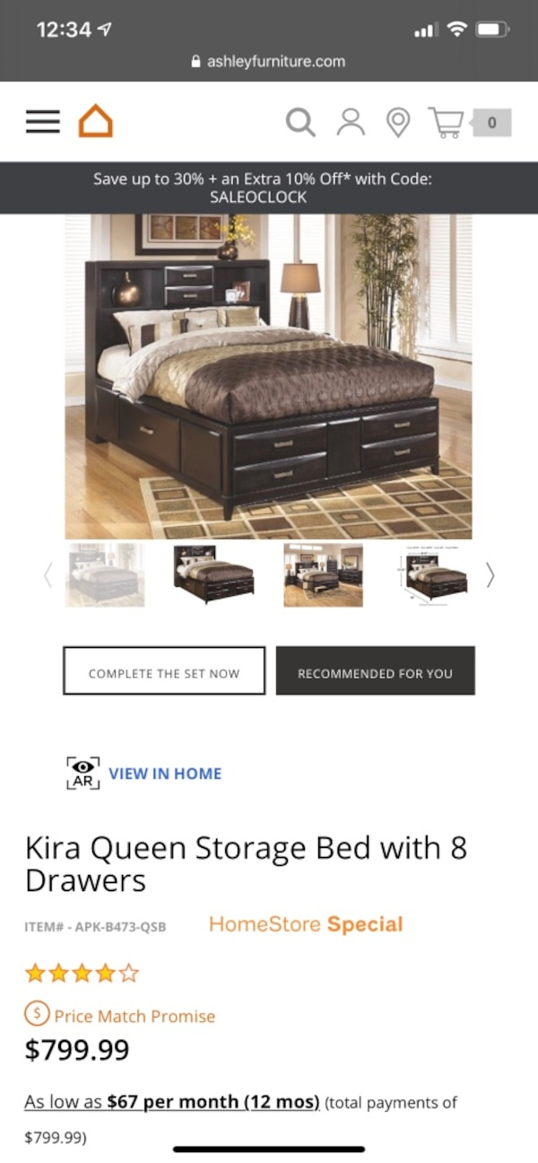 Ashley Furniture Queen Size Bed Frame and Nightstand 94c9a7a5-2960-4f02-8654-c913a8093984