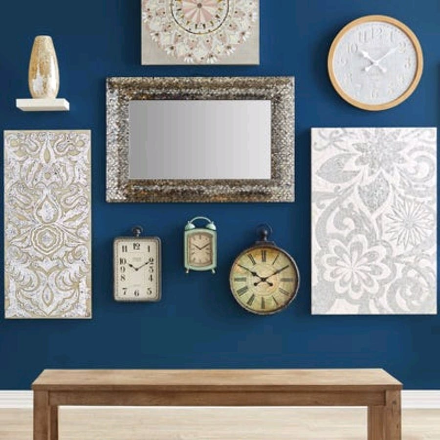 Sold Pier1 Champagne Mirrored Mosaic Damask Wall Panel in ...
