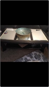 Coffee table set with end tables
