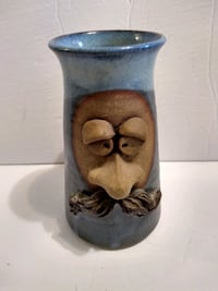 Pottery Ugly Face Cup