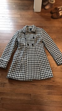 women's black and white houndstooth coat Fairfax, 22032