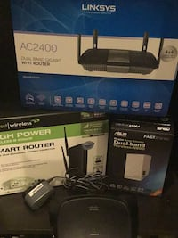 Networking routers 4 of them, Linksys and more Rockville, 20852