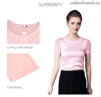 Wholesale Women shirts Silk Tops   Mississauga, L5M