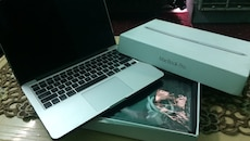 Macbook Pro with box and all its necessary stuffs