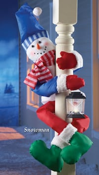 New Holiday Snowman Railing or Tree Hugger Stanley