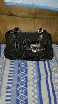 black, green, purple and pink leather hand bag Vancouver, 98662