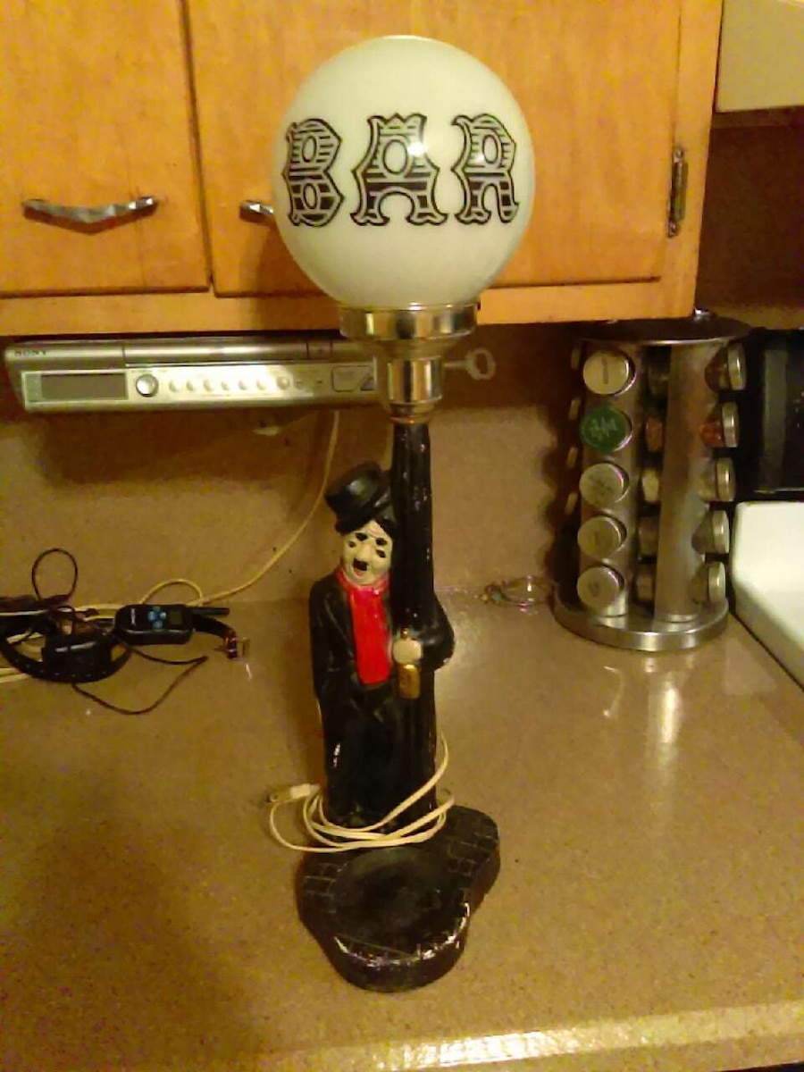 Charlie chaplin bar lamp 1950's or best offer! in Dickson City - letgo