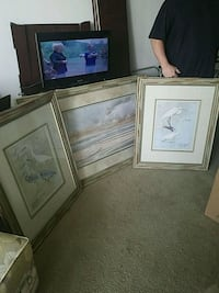 three brown wooden framed paintings Hollywood, 33021